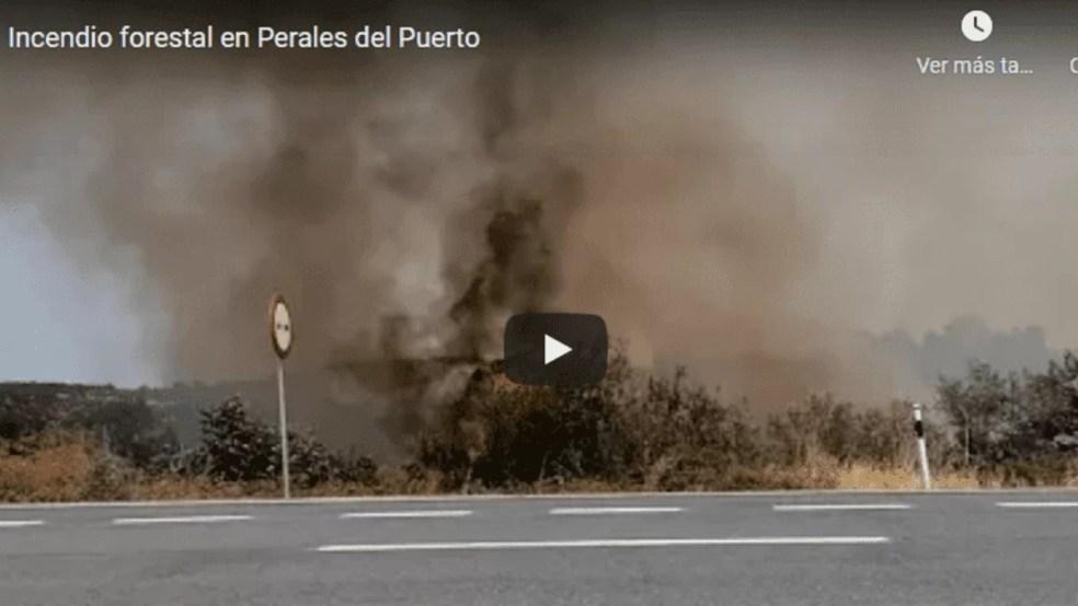 El Infoex estabilizan el incendio de Perales del Puerto