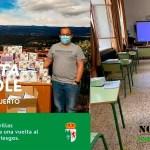 Alcalde de Perales reparto de mascarillas en los centros educativos