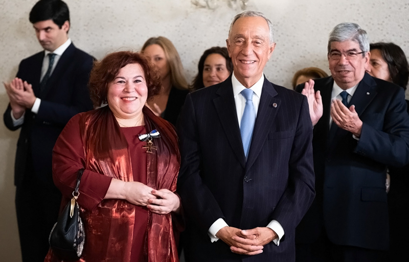 Manuela Ribeiro foi condecorada pelo Presidente República