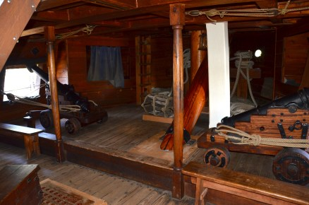 Inside the ship at Jamestown