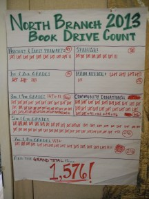The results of our successful book drive