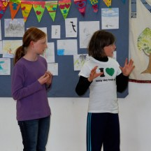 Two students share details of their trip to several countries