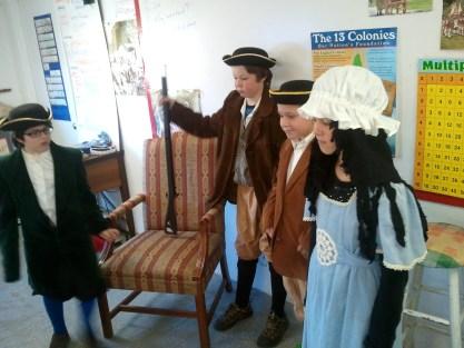 Lafayette, Ethan Allen, Ben Franklin, Phyllis Wheatley