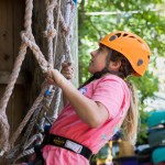 Middle School Visits Triple C Challenge Course