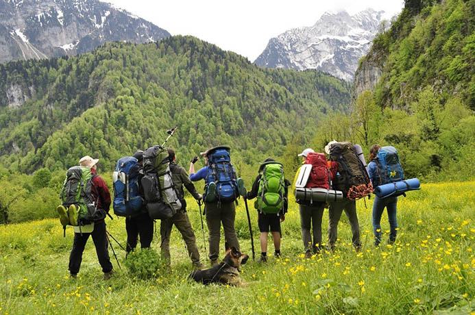 поход в горы в Италии