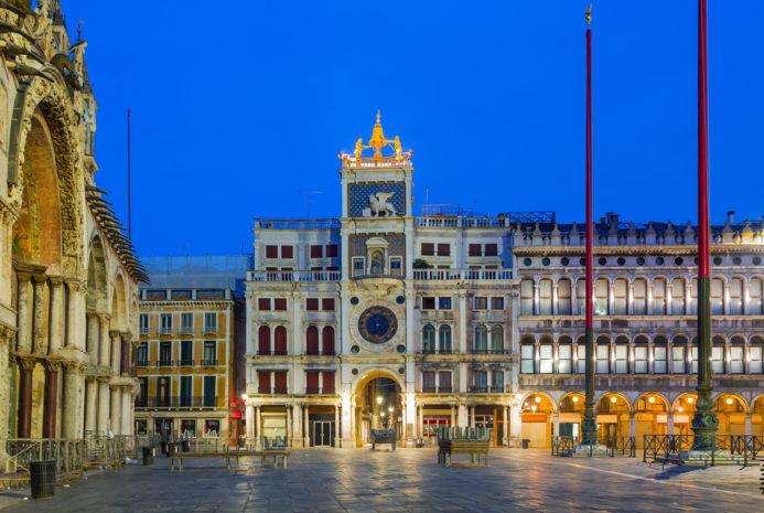 Часовая башня Венеция http://torreorologio.visitmuve.it/ Адрес: Piazza San Marco, 30124 Venezia VE, Италия<br /> Входной билет: 12 евро