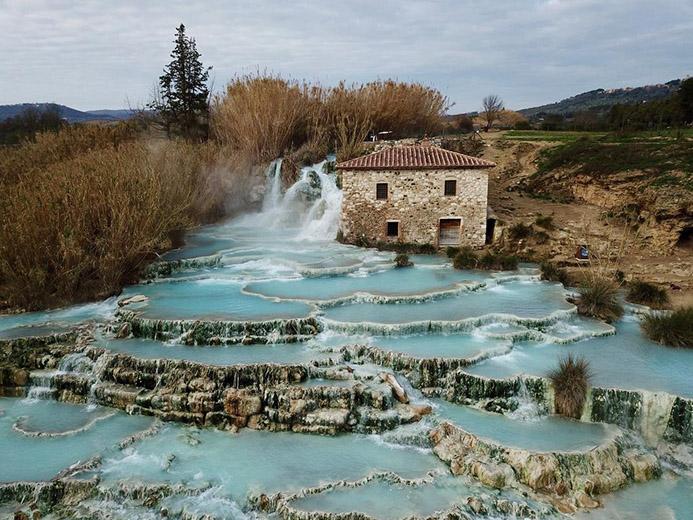 бесплатные термальные источники в Италии Термы Сатурния