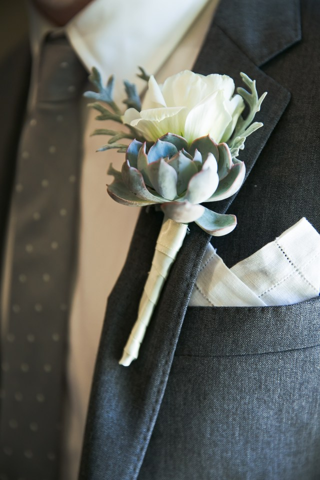 Wedding Succulent Boutteniere 11