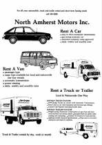 early auto & truck rental brochure