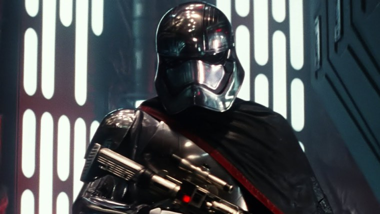 Gwendoline Christie as the ruthless Captain Phasma