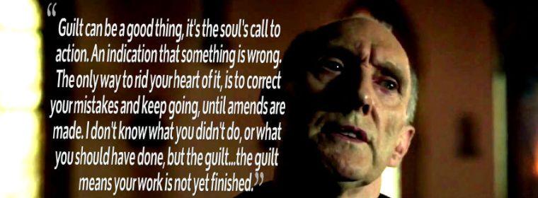 Father Lantom always some words of wisdom when Daredevil's inhumanity is hurting Matt Murdock