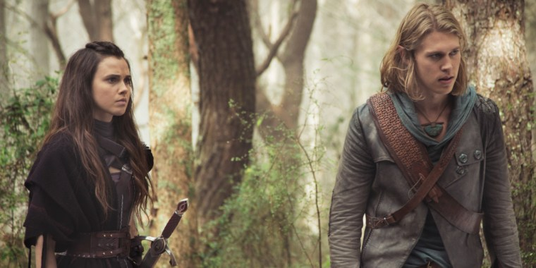 Princess Amerle (Poppy Drayton) and Wil Ohmsford (Austin Butler) (MTV's The Shannara Chronicles)
