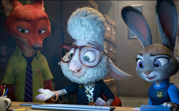 Left To Right: Wilde (Bateman), Bellwether (Slate) and Hopps (Goodwin)