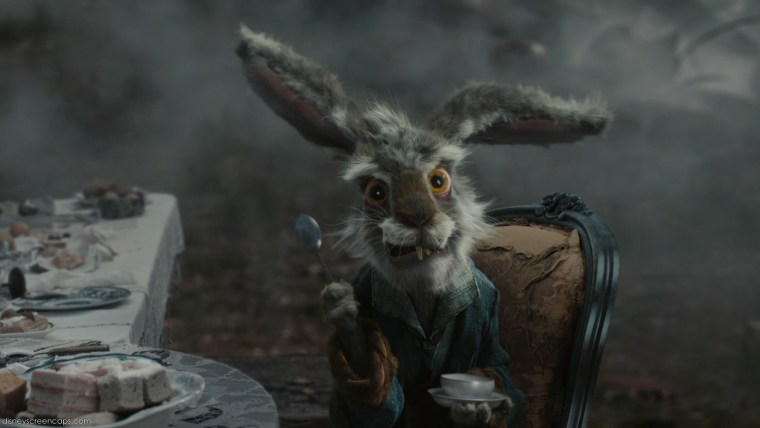 The very mad March Hare (Paul Whitehouse)  (Alice In Wonderland, Walt Disney Pictures)