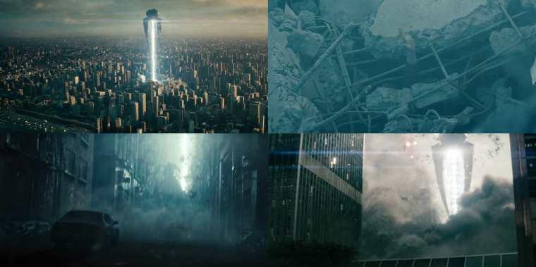 The Destruction Of Metropolis (Man Of Steel, Warner Bros)
