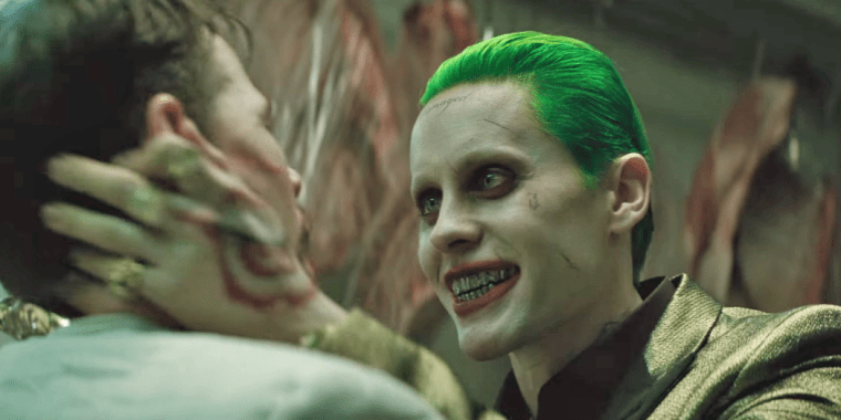 The psychotic mobster, The Joker (Jared Leto) (Suicide Squad, Warner Bros Entertainment)