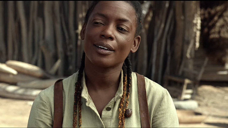 Aminata Diallo (Ellis) tells her story to inspire others (The Book Of Negroes, BET Network)