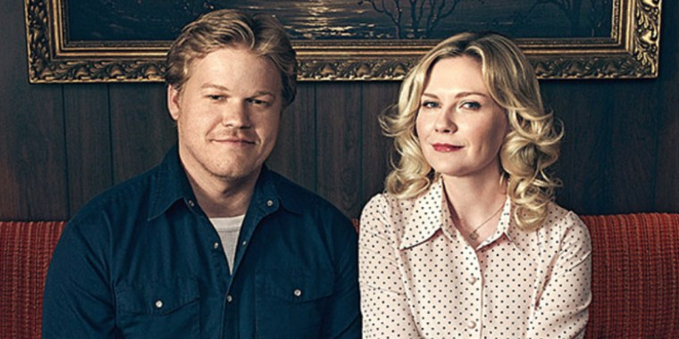 Guilt wears the veil of innocence with these two jokers; Ed Blumquist (Jesse Plemons) & Peggy Blumquist (Kirsten Dunst) (Fargo, FX)