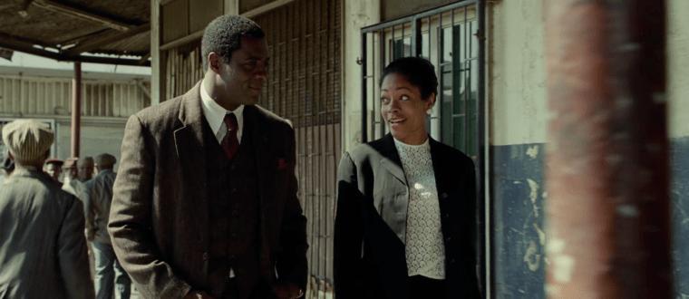 Nelson Mandela (Idris Elba) and Winnie Madikizela (Naomi Harris) (Mandela: Long Walk To Freedom, The Weinstein Company)
