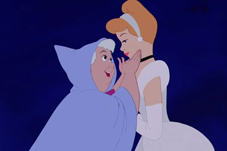 The Fairy Godmother and Cinderella (Walt Disney Animation)