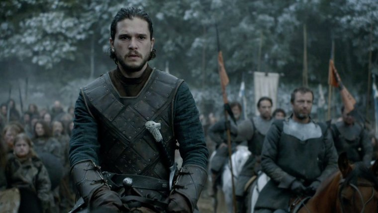 Jon Snow (Kit Harrington) at The Battle Of The Bastards (Game Of Thrones, HBO)