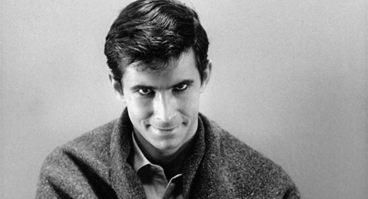 """""""We're all not quite as sane as we pretend to be."""" - Robert Bloch, Psycho Anthony Perkins is the boyish and charming psychotic killer Norman Bates (Psycho, Paramount Pictures)"""