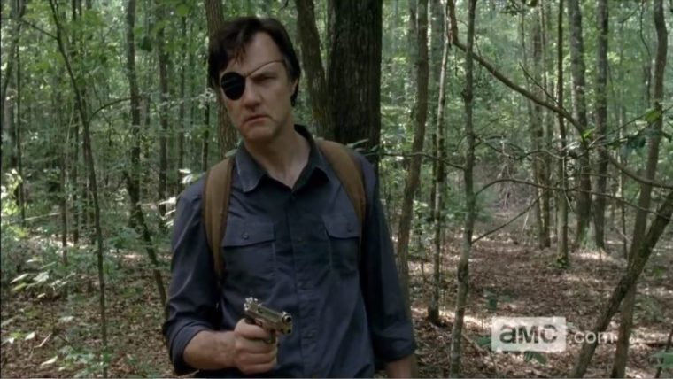 The evil, ruthless and calculating Governor (David Morrissey) in The Walking Dead (The Walking Dead, AMC)