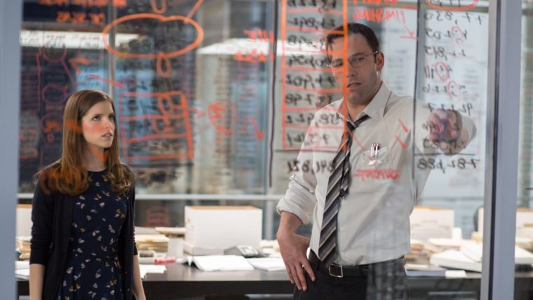 Christian Wolff (Ben Affleck) and Dana Cummings (Anna Kendrick) in The Accountant  (The Accountant, Warner Bros.)