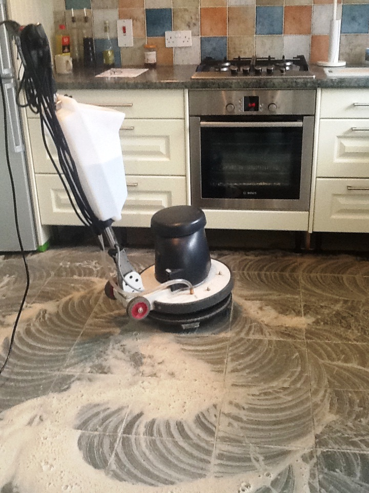 cleaning kitchen floors corner table with storage bench floor restoration stone and polishing tips for slate tiles towcester scrubbing