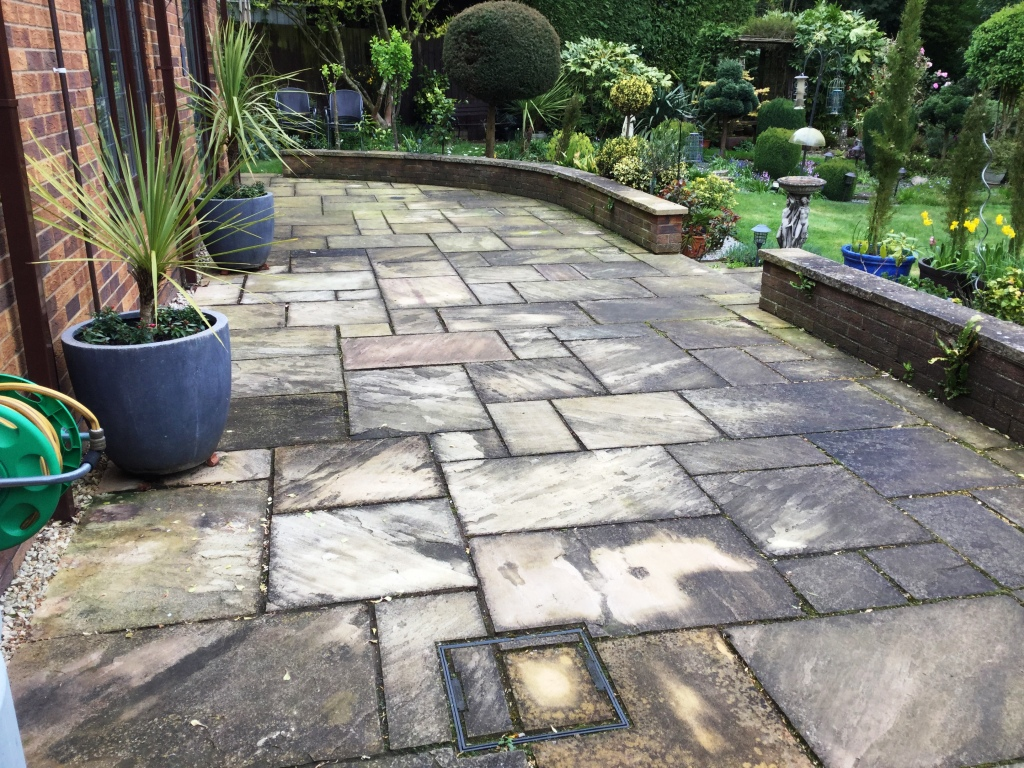 patio stone cleaning and maintenance