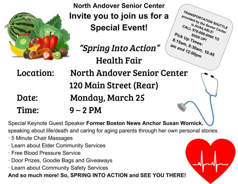 You're Invited to the Spring into Action 55+ Community Health Fair