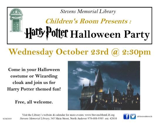 StevensMemLib Harry Potter Halloween Flyer.jpg