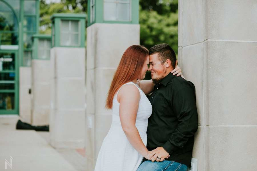 Downtown Edwardsville, Illinois engagement session