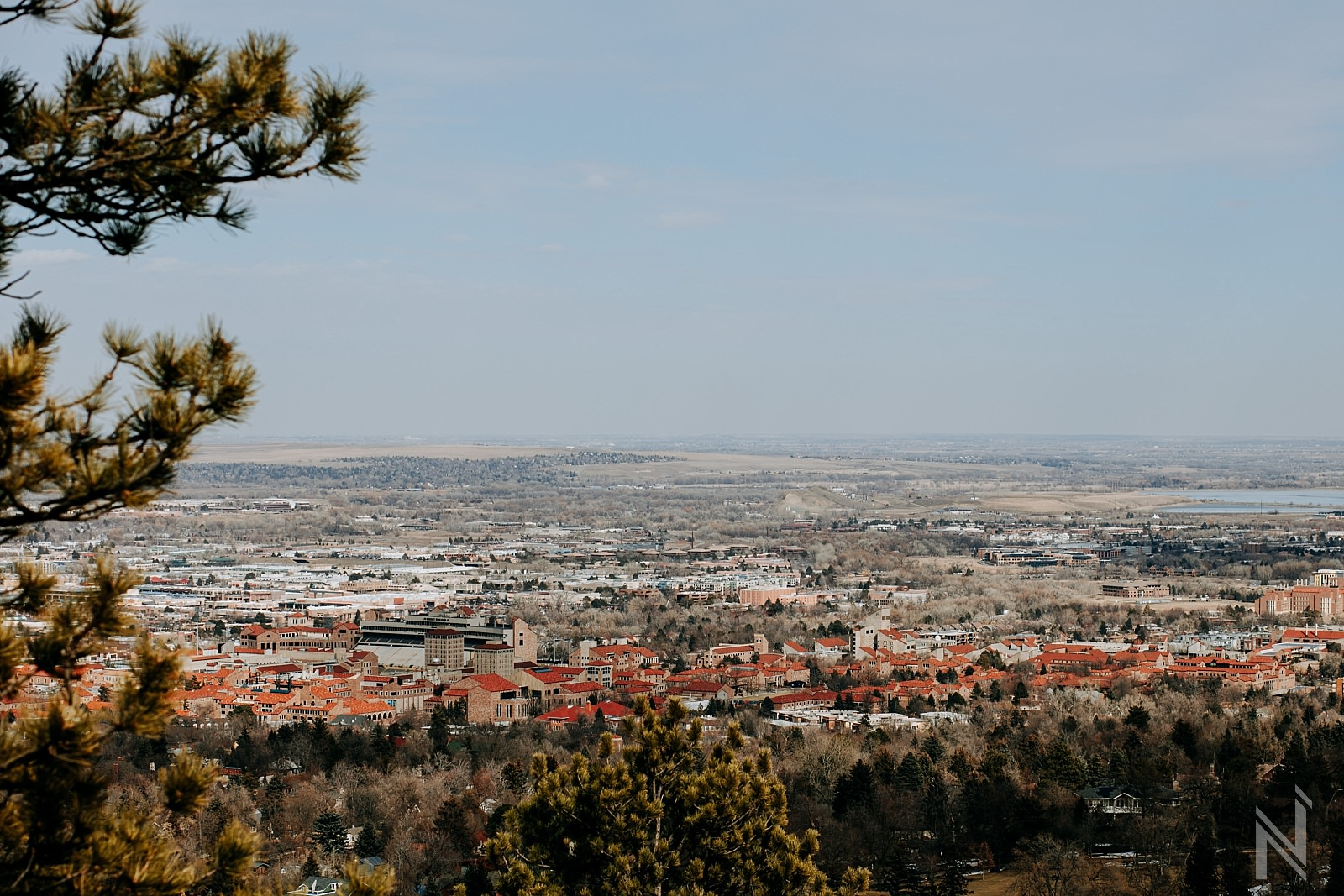 scenic landscape photograph of Boulder Colorado