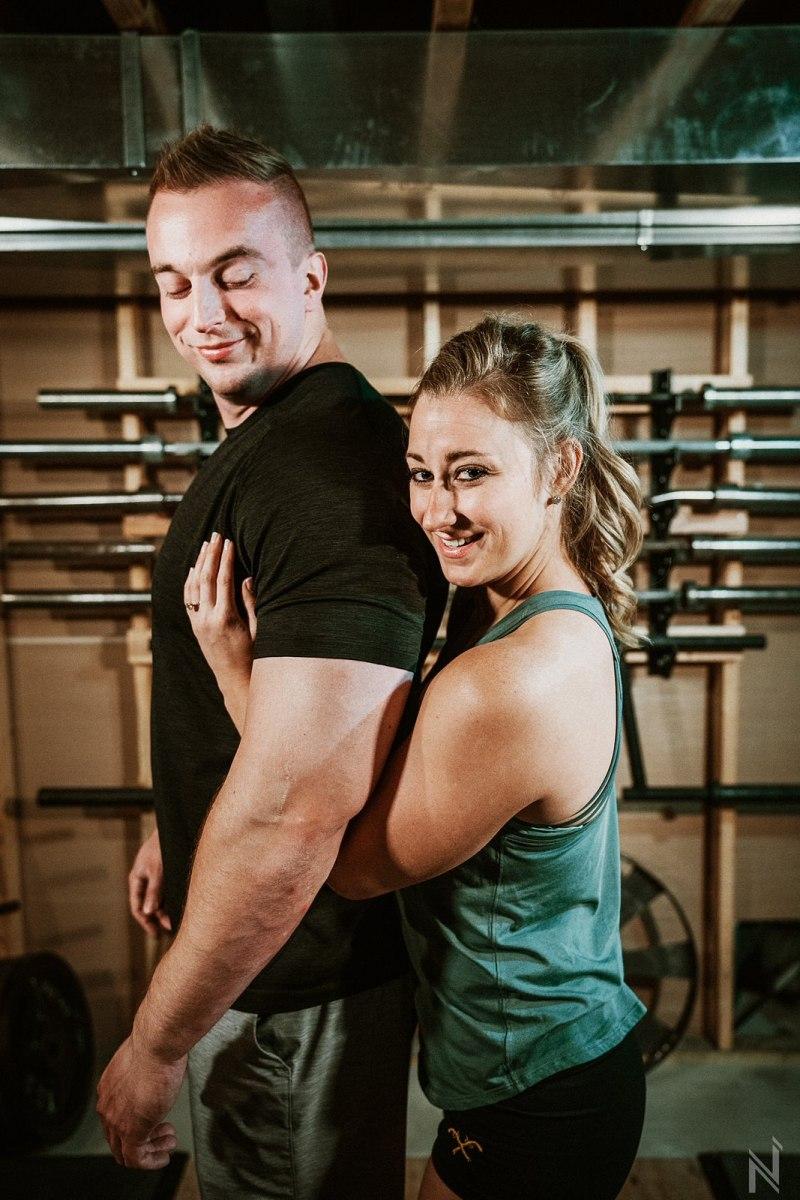 Jessica + Kyle | Home Gym + Shivers Frozen Custard | Alton ...