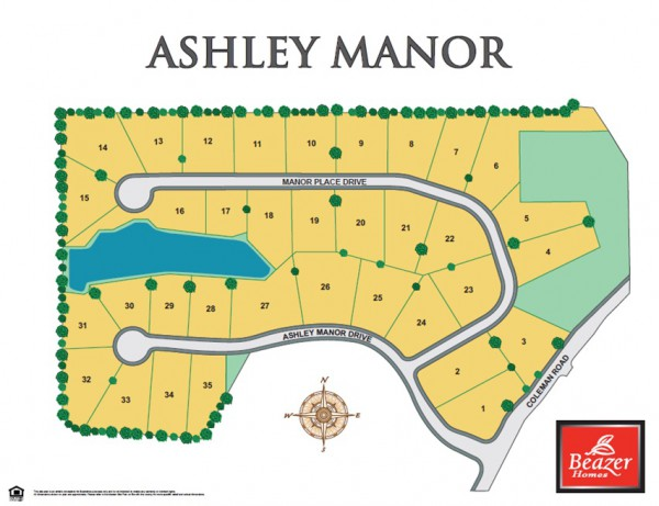 Ashley Manor Roswell Community Site Plan Georgia