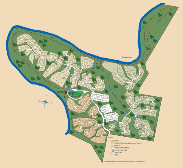 Governors Preserve Site Plan Canton 1