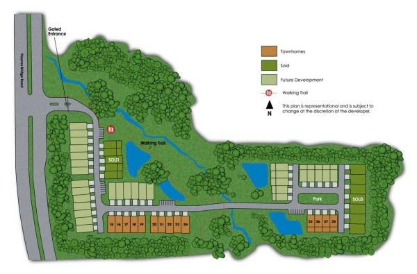 Haynes Park Townhomes Alpharetta Community Site Plan