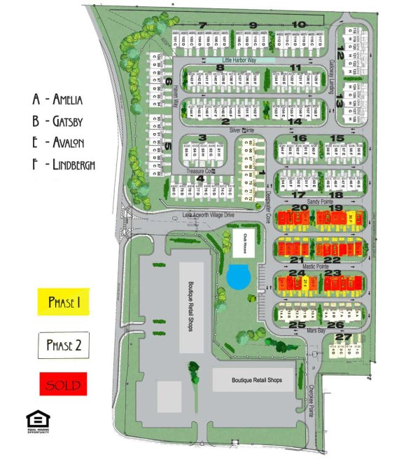 Acworth Townhome Community Of Lake Acworth Site Plan