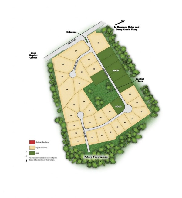 Legend Oaks Atlanta GA Community Site Plan