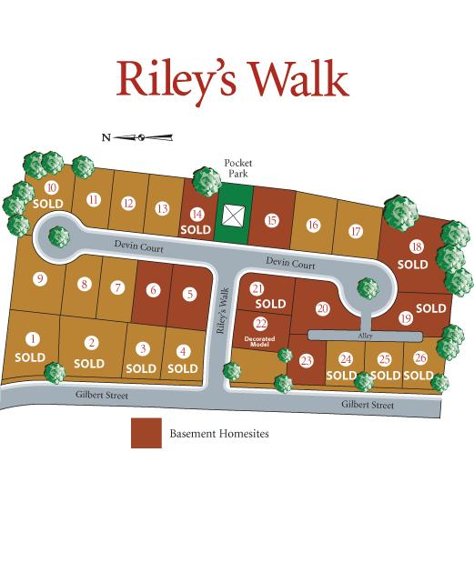 Rileys Walk Community Site Plan