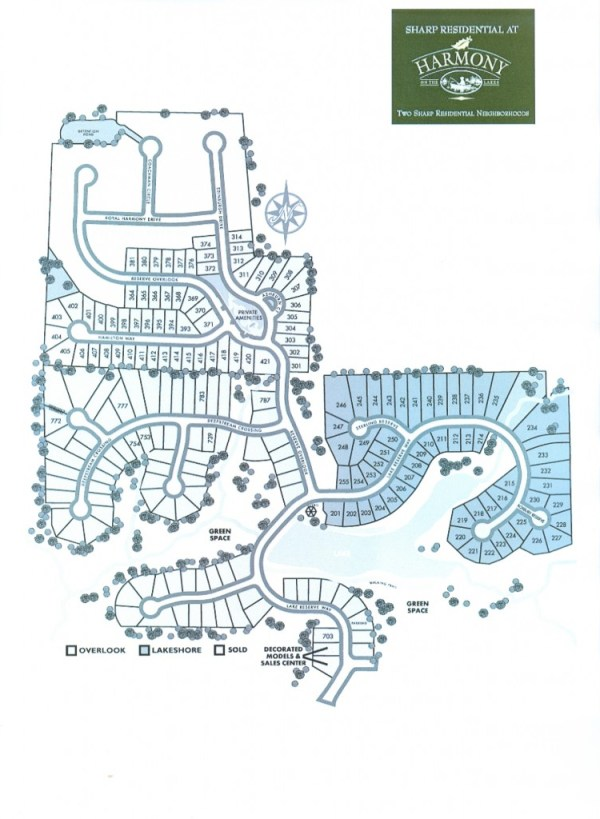Harmony On The Lakes Holly Springs Site Plan Georgia