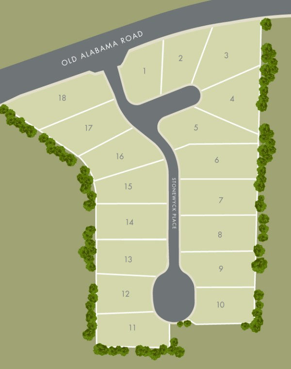 Stonewyck Roswell Georgia Community Site Plan