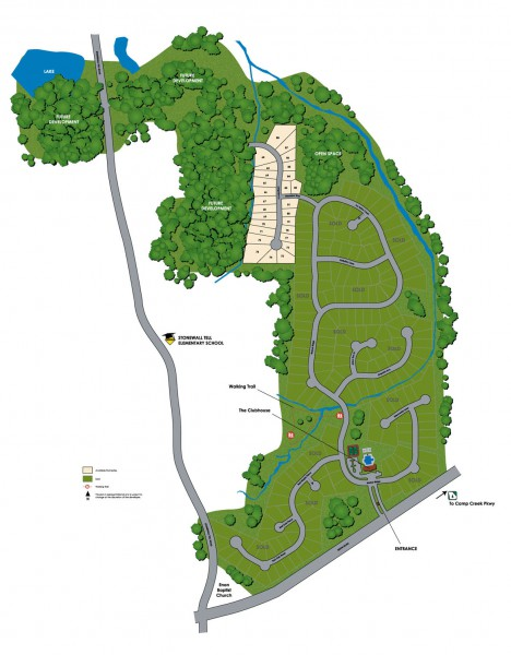 John Wieland Regency Oaks Community Site Plan