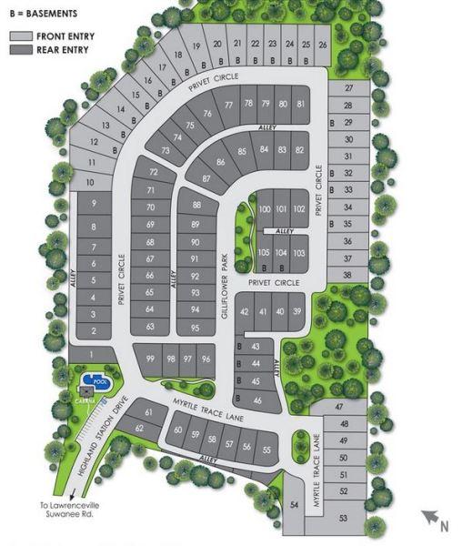 Suwanee GA Highland Station JEH Subdivision Site Plan
