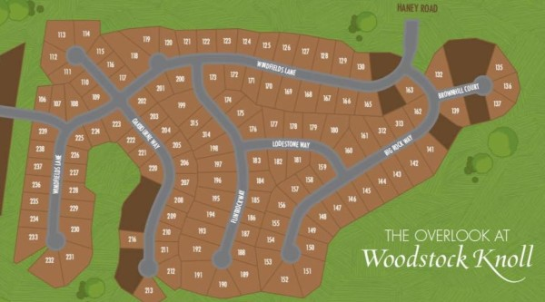 Overlook At Woodstock Knoll Ashton Woods Site Plan