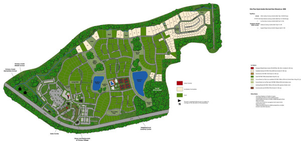 Pulte Built Homes In Vickery Site Plan