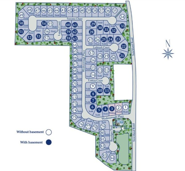 Alpharetta Homes Site Plan Bethany Crossing