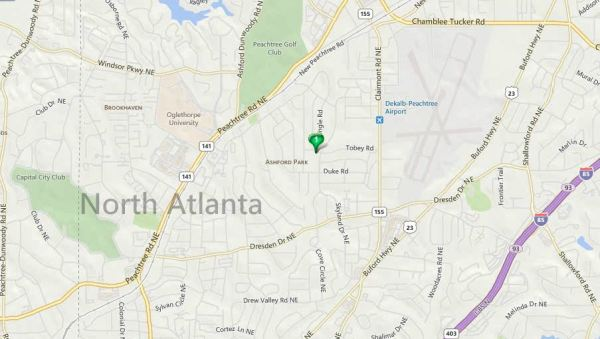 Ashford Park Map Location