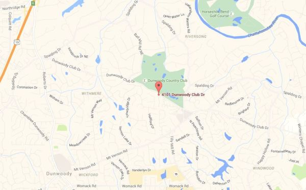Dunwoody Club Townhome Map Location